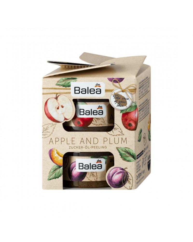 Geschenkset Apple and plum Подарочный набор скраб для тела Яблоко и Слива, 2*100 мл