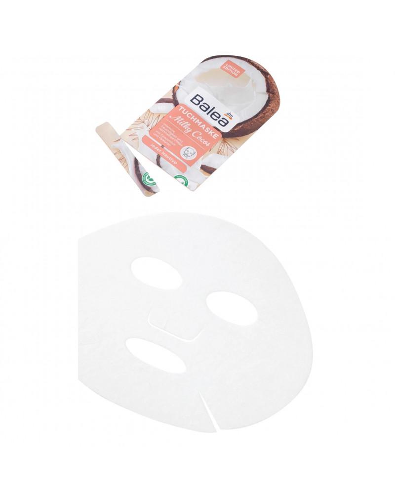 Tuchmaske Milky Cocos Тканевая маска с кокосовым молоком и гиалуроновой кислотой, 1 шт.