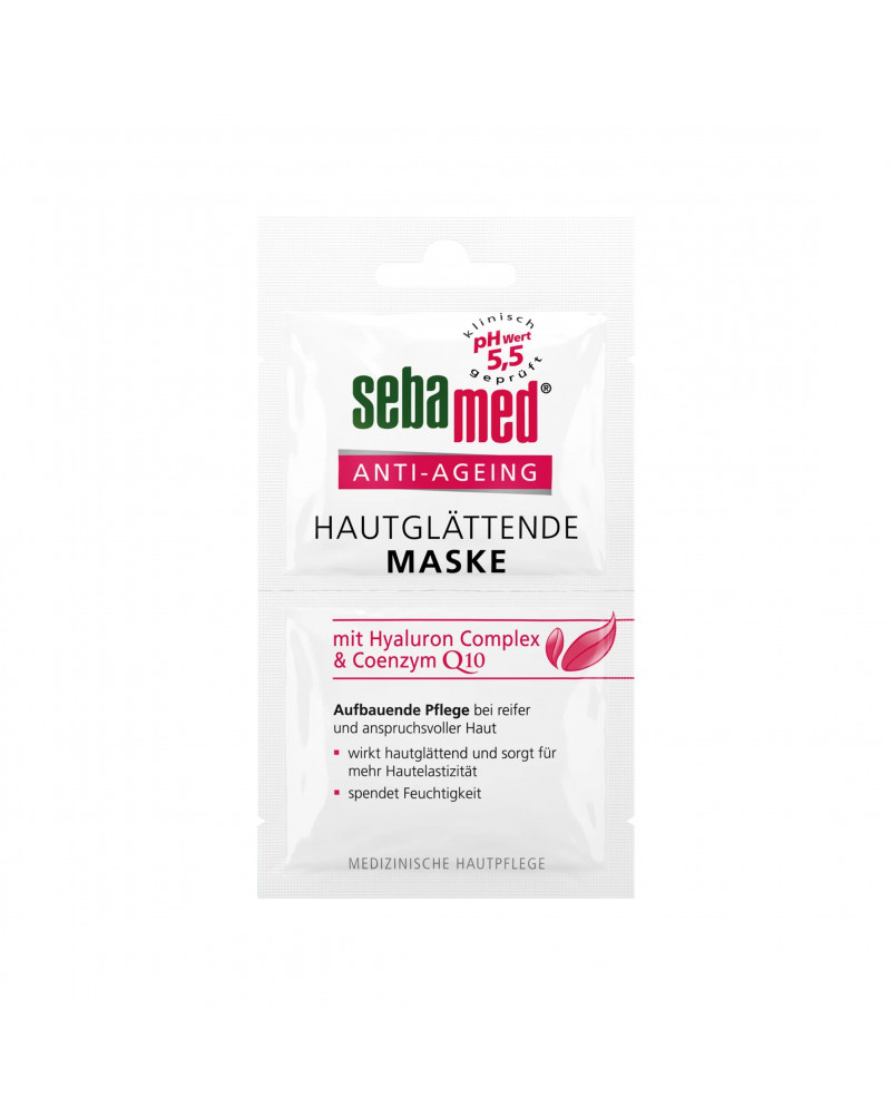 Maske Anti-Ageing Антивозрастная маска для лица с коэнзимом Q10, гиалуроновой кислотой и маслом виноградной косточки, 10 мл.