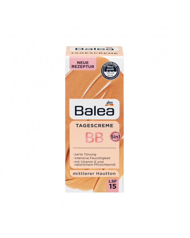 Getönte Tagescreme BB Mittlerer Hautton Тонирующий дневной BB крем с витамином Е и натуральным маслом косточек персика, 50 мл.