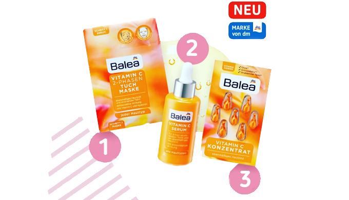 Новинки для лица с витамином С от бренда Balea